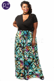 Plus Size Solid & Printed Maxi Dress