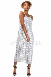 Pattern Tunic Maxi Dress