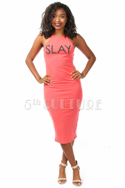 Slay Print Maxi Dress