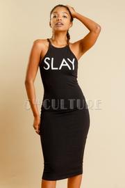 Slay Print Midi  Dress