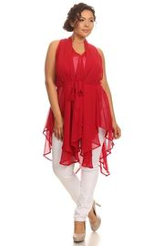 Plus Size Solid Layered Lose Top