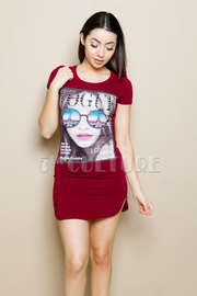 Magazine Fashion Print Dress