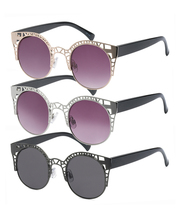 Metal Cat Eye Polarized Sunglasses
