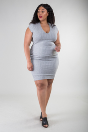 Plus Size Casual Solid Tube Dress