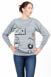 Moschico Patches Long Sleeved Sweater Dress