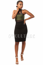 Solid Straps Mini Dress