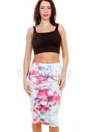 Sweet Floral Midi Skirt