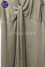 Plus Size Overlap Maxi Jersey Dress