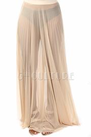 Casual Mesh Maxi Skirt