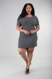 Plus Size Short Sleeved Fit Dress