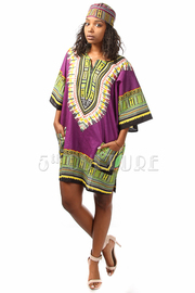 Indian Printed Pocket Loose Tunic Dress
