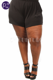 Plus Size Solid Mini Summer Shorts