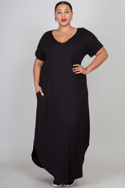 Plus Size Maxi Sleeveless Dress