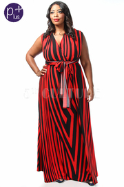 Plus Size Magic 8 Way Striped Maxi Summer Dress