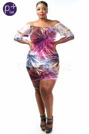 Plus Size Summer Nights Sheer Sleeved Dress