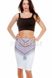 Aztec Printed Midi Skirt