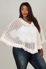 Plus Suze V-neck Crochet Knitted Top