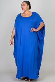 Plus Size Wide Neck Harem Jersey Maxi Dress