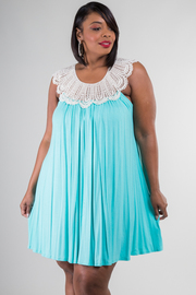 Plus Size Crochet Trim Tunic Dress