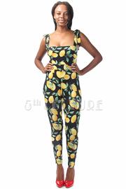 Casual Lemon Printed Fit Jumpsuit