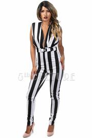 Nautical Striped Fit Jumpsuit