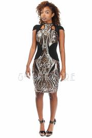 Sequin Party Cutout Mini Dress