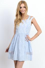 Marled Sliced Straps Dress