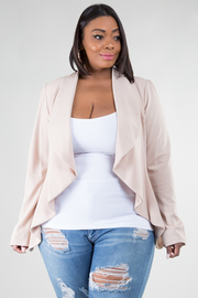 Plus Size Collar Work Blazer