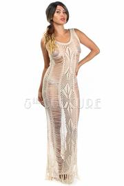 Rib Knit Maxi Sleeveless Dress
