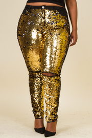 Plus Size All Over Sequin Skinny Denim Jeans