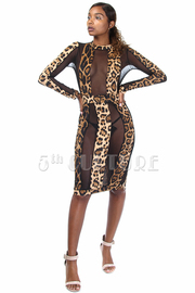 Sexy In Wild Leopard Mesh Mini Dress