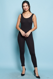 Deep U Back Jogger Jumpsuit