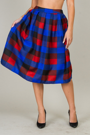 Plaid Holiday Skater Knee Length Skirt