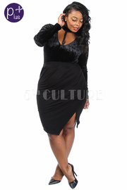 Plus Size Slit Side Ruched Pencil Skirt