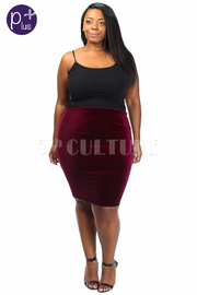 Plus Size Night Out Velvet Mini Skirt