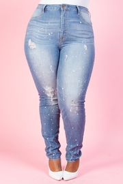 Plus Size Casual Denim jeans