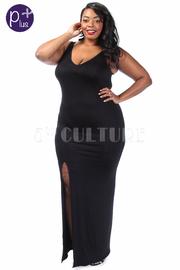 Plus Size Night Out Maxi Slit Dress