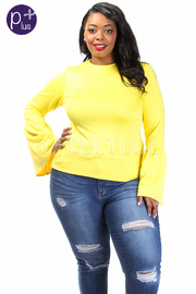 Plus Size Radiant Trumpet Sleeved Top
