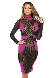 Sexy In Abstract Lined Sequin Club Dress
