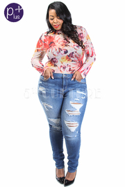 Plus Size Casual Summer Ripped Skinny Jeans