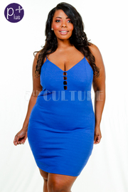 Plus Size Sweetheart Caged Tube Dress