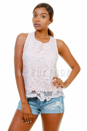 Floral Laced Summer Tank