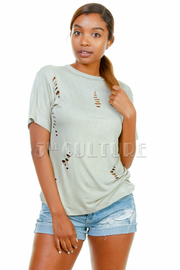 Laser Cut Short Sleeved Top
