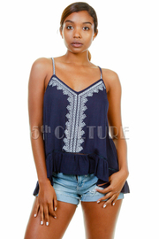 Embroidery Aztec Summer Tank