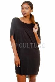 Basic Short Sleeved Dolman Dress