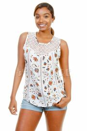 Crochet Floral Sweet Top