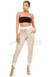 Silky Casual Pleated Pants
