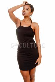 Basic Cutout Back Mini Dress