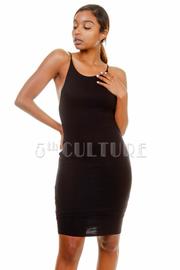 U-Back Open Solid Tube Dress