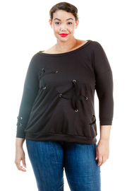 Plus Size Cross Tied Across Terry Top